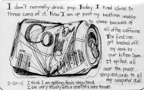 Sketchbook 2011 - Diet Coke Can Sketch