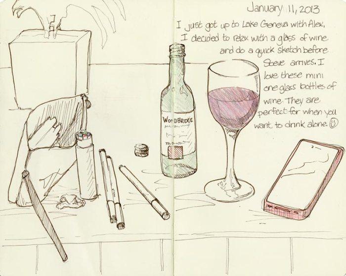 Sketch & Wine