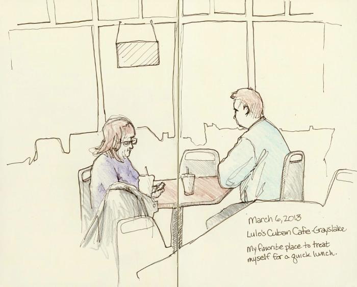 Sketching at Lulo's