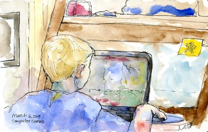 Alex at Computer
