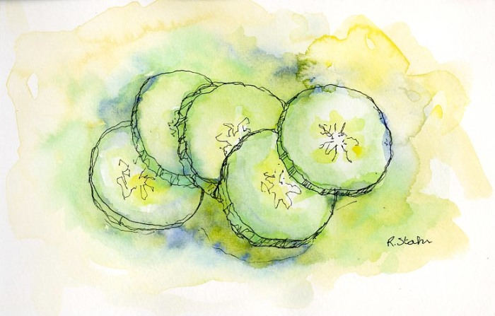 2013_watercolorInk_CucumberSlices_100dpi_002