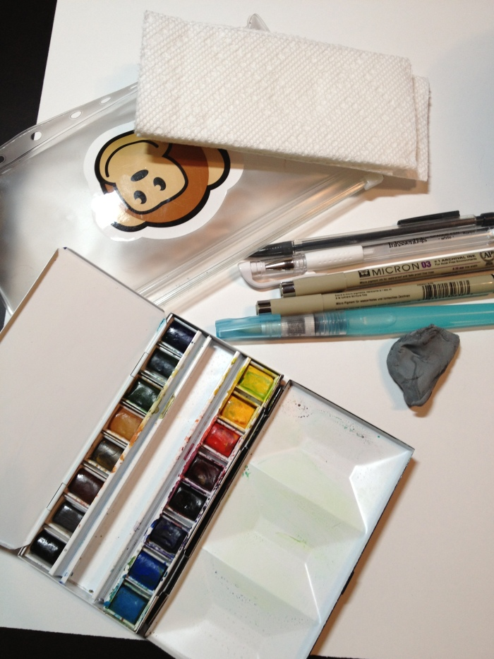 Travel Watercolor Sketch Kit