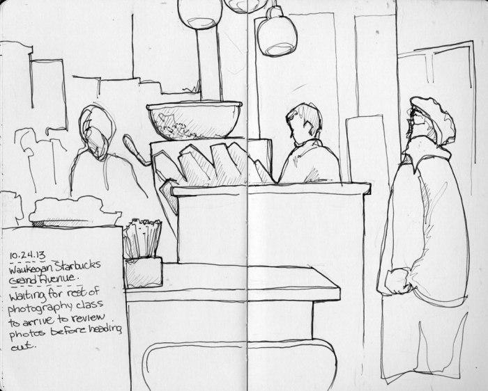 Starbucks - Moleskine Sketchbook and Micron Pen
