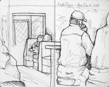 Fred's Diner - Moleskine Sketchbook and Micron Pen