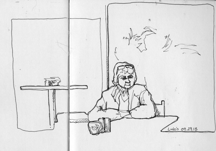 Lunch at Lulo's - Moleskine Sketchbook and Micron Pen